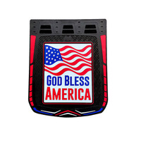 "24"" x 30"" God Bless America Mud Flaps With Black Background"