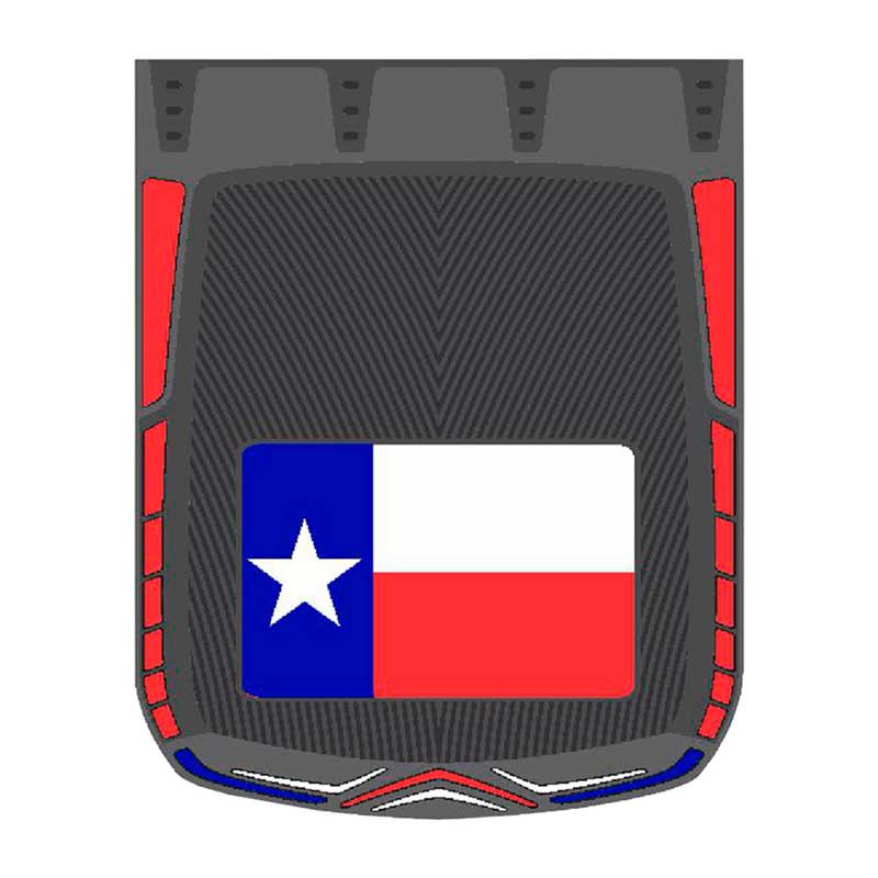 "24"" x 30"" Texas Flag Mud Flaps With Black Background"