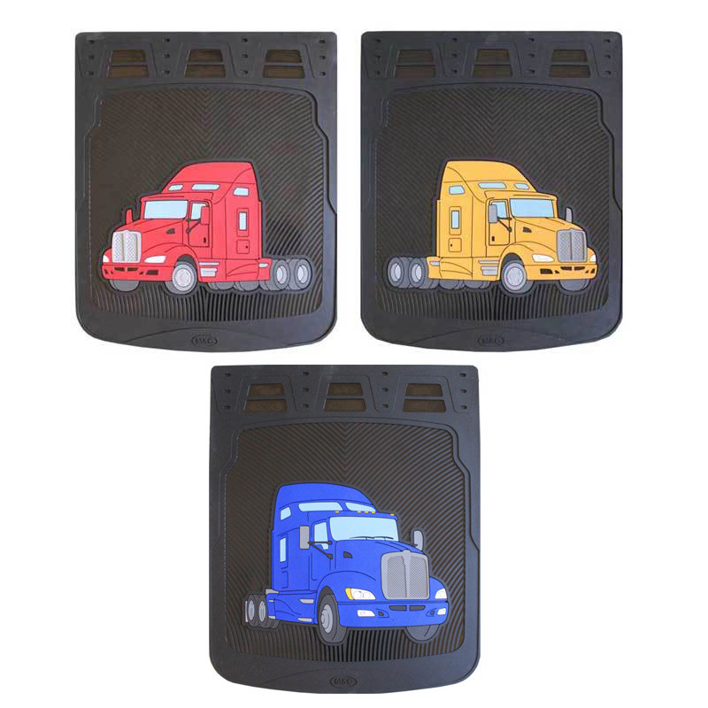 """24"""" Kenworth T660 Rubber Mud Flaps With Black Background"""