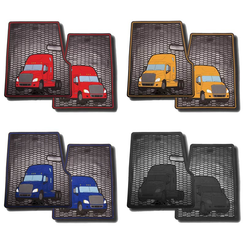 Freightliner Cascadia Rubber Floor Mats All Colors