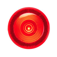 "4"" Round S/T/T Single LED Light With Reflective Ring Lens"