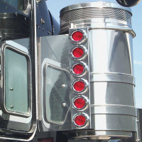 "Kenworth 13"" Donaldson And Vortox Rear Air Cleaner Light Bar By Roadworks"