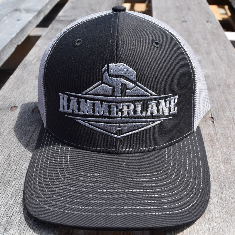 Snapback Charcoal Silver Hammerlane Trucker Hat