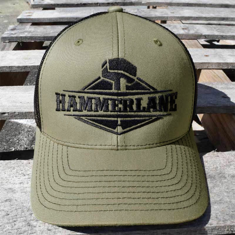 Snapback Army Green Hammer Lane Trucker Hat