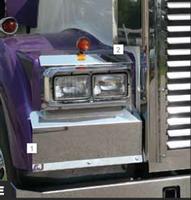 Kenworth W900B Solid Mount Fender Guards Blank 2005 & Earlier By RoadWorks