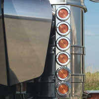 "Kenworth 15"" Premium And Regular Donaldson Front Air Cleaner Light Bar By Roadworks"