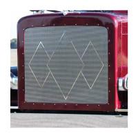 Peterbilt 388 389 Triple Diamond Punched Grill Insert