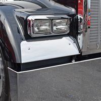 Kenworth W900L Fender Guard 1993 & Newer On Black Truck
