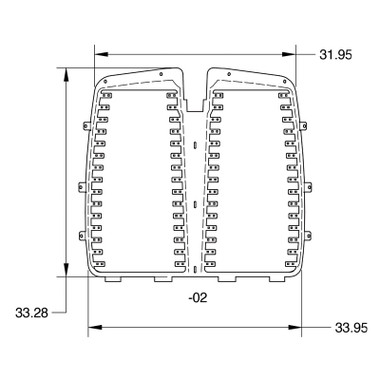 Kenworth T660 Aftermarket Louvered Grill Insert By