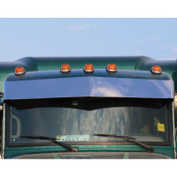 "Peterbilt 365 367 384 386 388 389 Curved Windshield 10"" Blind Mount Visor By Roadworks"