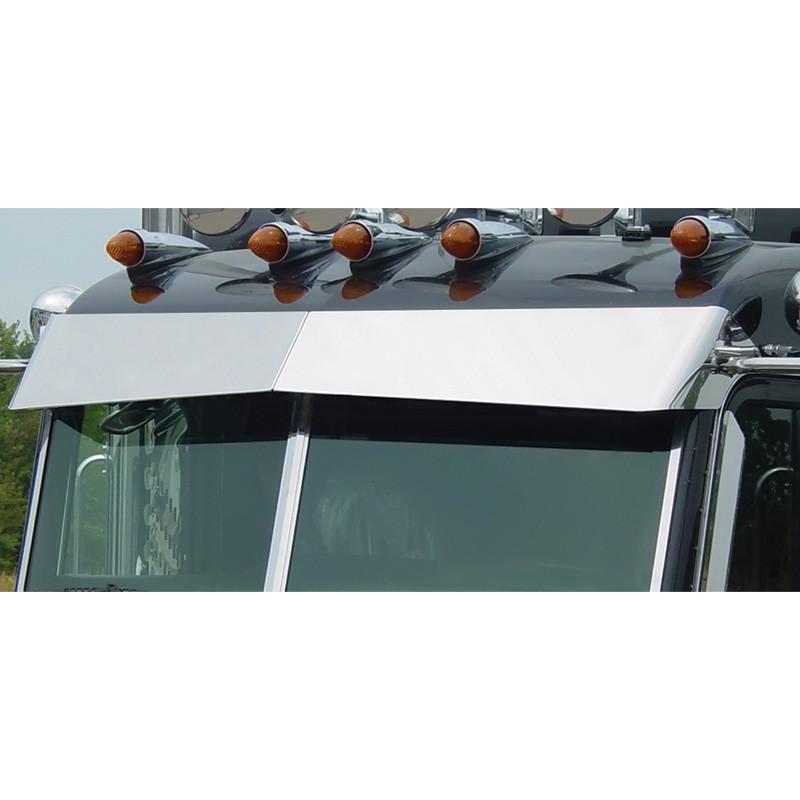 Peterbilt 365 367 384 386 388 389 Curved Windshield Blind Mount Bow-Tie Visor By Roadworks