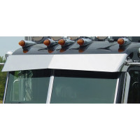 Peterbilt 365 367 384 386 388 389 Curved Windshield Blind Mount Bow-Tie Visor By Roadworks