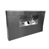 Rear Bumper Center Panel - No Lights w/ Trailer and 2 7-Way Holes