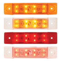 Rectangular Dual Function Clearance Marker LED Trailer Light With 8 Diodes - Styles