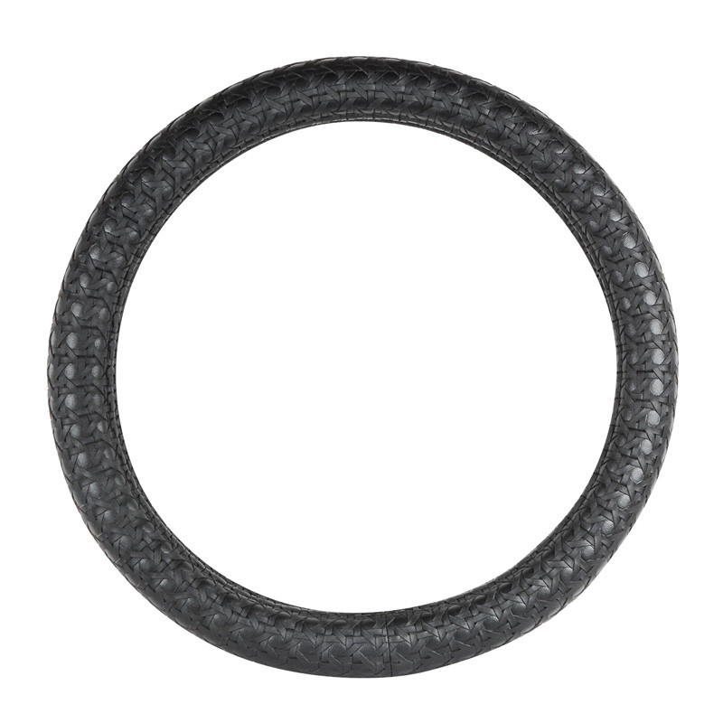 "18"" Black Criss Cross Weave Steering Wheel Cover By Grand General"