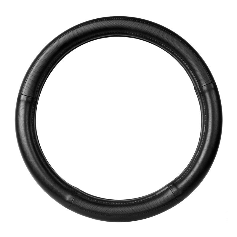 """20"""" Black Steering Wheel Cover With Black Stitching By Grand General"""