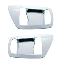 Kenworth Chrome Interior Door Handle Covers With Pointed Edges