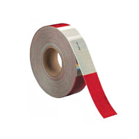 Red & White DOT Conspicuity Reflective Tape 150ft Roll