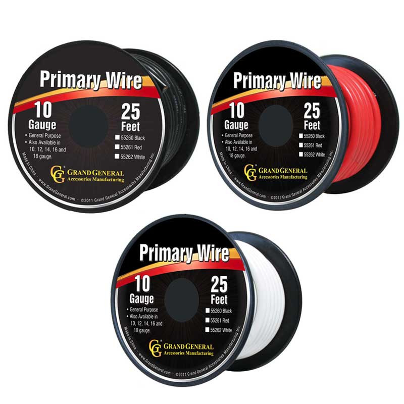 25ft Primary Wire Roll By Grand General