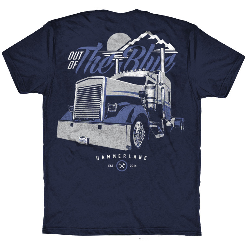 Out Of The Blue Hammer Lane Trucker T-Shirt Back