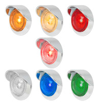 "1"" Dual Function Diamond Lens LED Marker Light With Visor Bezel By Grand General"