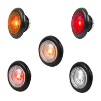 "1"" Dual Function Diamond Lens LED Marker Light With Rubber Grommet By Grand General"