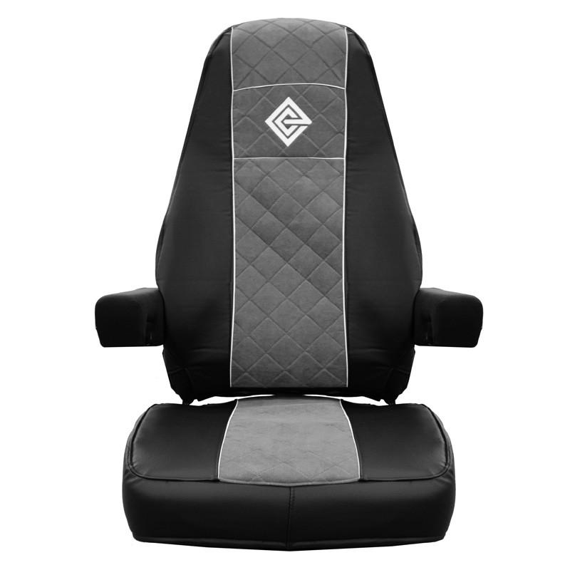 Peterbilt 378 379 386 387 388 389 Premium East Coast Covers Factory Seat Cover - Black & Grey