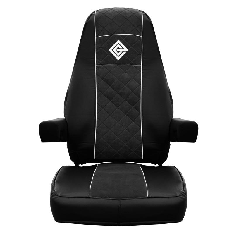 Freightliner Cascadia Premium East Coast Covers Factory Seat Cover - Black & Black