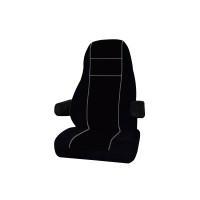 Kenworth T600 T700 T800 T2000 W900 Premium V-Truck Factory Seat Cover - Black & Black