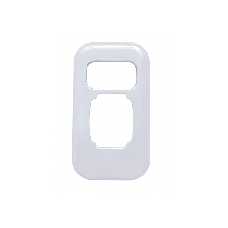 Chrome Plastic Peterbilt Dimmer Switch Trim