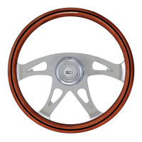 "18"" Ace Black Line 4 Chrome Spoke Steering Wheel"