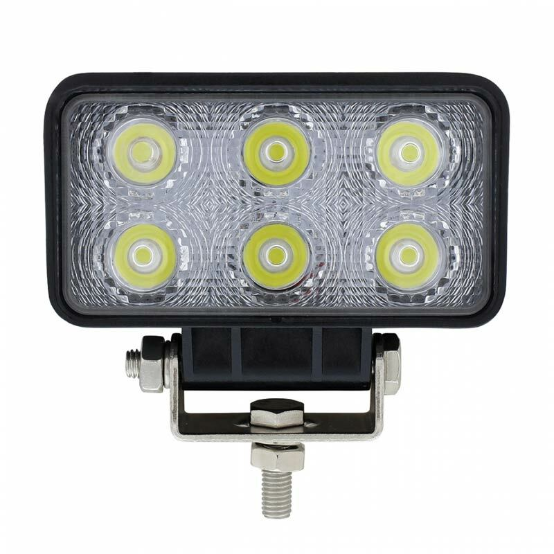 6 LED High Power Rectangular Driving And Work Light