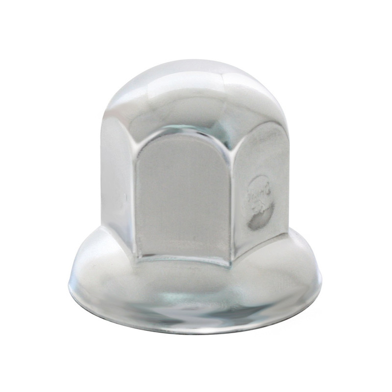 """Chrome Steel 1 1/4"""" Standard Nut Cover With Flange"""