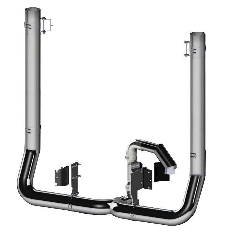 "Peterbilt 579 7"" Dynaflex Chrome Exhaust Kit"
