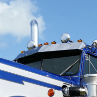 "Kenworth W900A 12"" Drop Visor By Roadworks"
