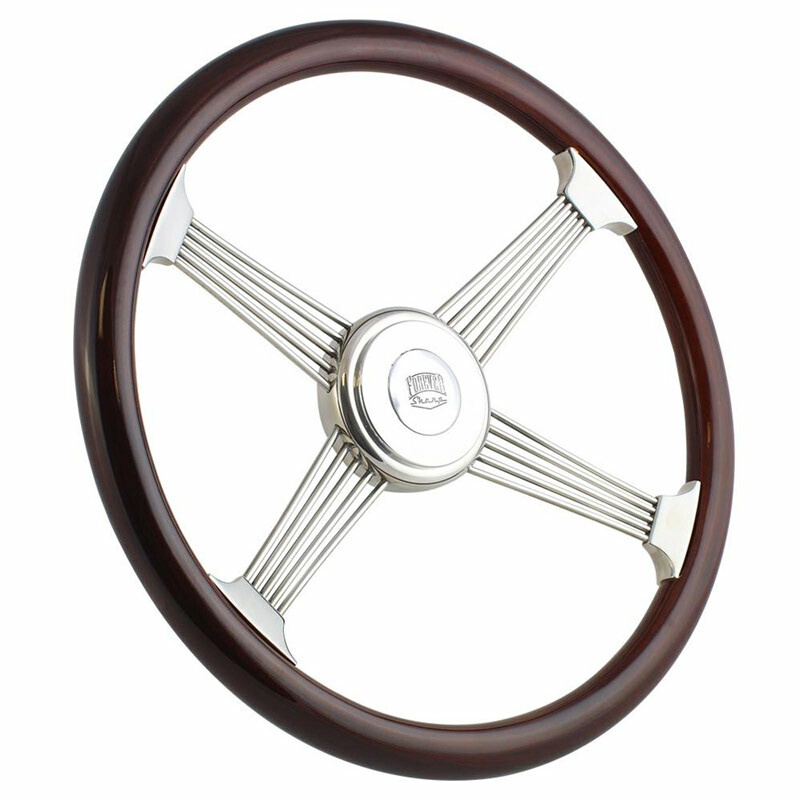 "Highway Wheels 18"" Steering Wheel Chrome Banjo Spokes"
