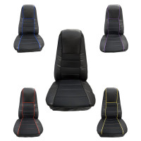 Sport Faux Leather Seat Cover With Front And Back Pockets
