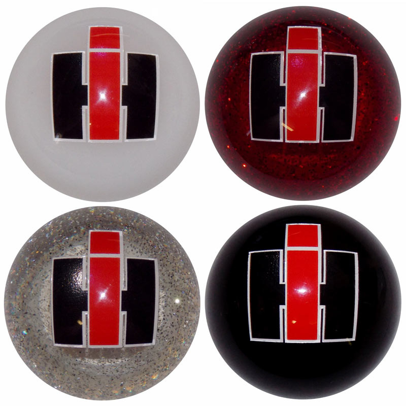 International Harvester Shift Knob Kit - Black, White, Red Glitter, Clear Glitter