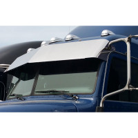 "Peterbilt 384 386 389 14"" Drop Visor Blind Mount Stainless Steel - Close"