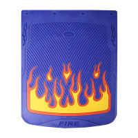 """24"""" x 30"""" Flame Mud Flaps With Blue Background"""