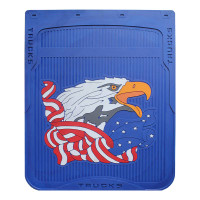 "24"" x 30"" American Eagle Mud Flaps With Blue Background"