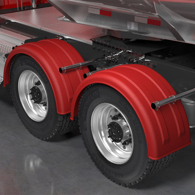 Minimizer 2220 Series Truck Red Poly Super Single Fenders