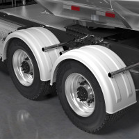 Minimizer 2220 Series Truck White Poly Super Single Fenders