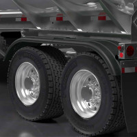 Minimizer TR4020 Series Poly Super Single Tractor Tandem Fenders Black