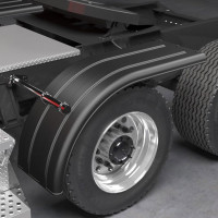 Minimizer 9070 Series Poly Super Single Truck Half Fenders Black