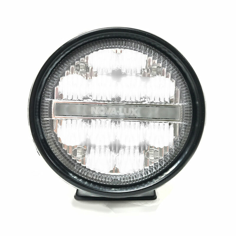 "3.75"" LED Fog Light With DRL Turn Signal White LED"