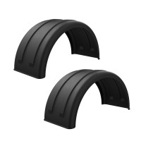 "Minimizer 2220 Series Black Poly Super Single Truck Fenders For 22.5"" Or 24.5"" Wheels"