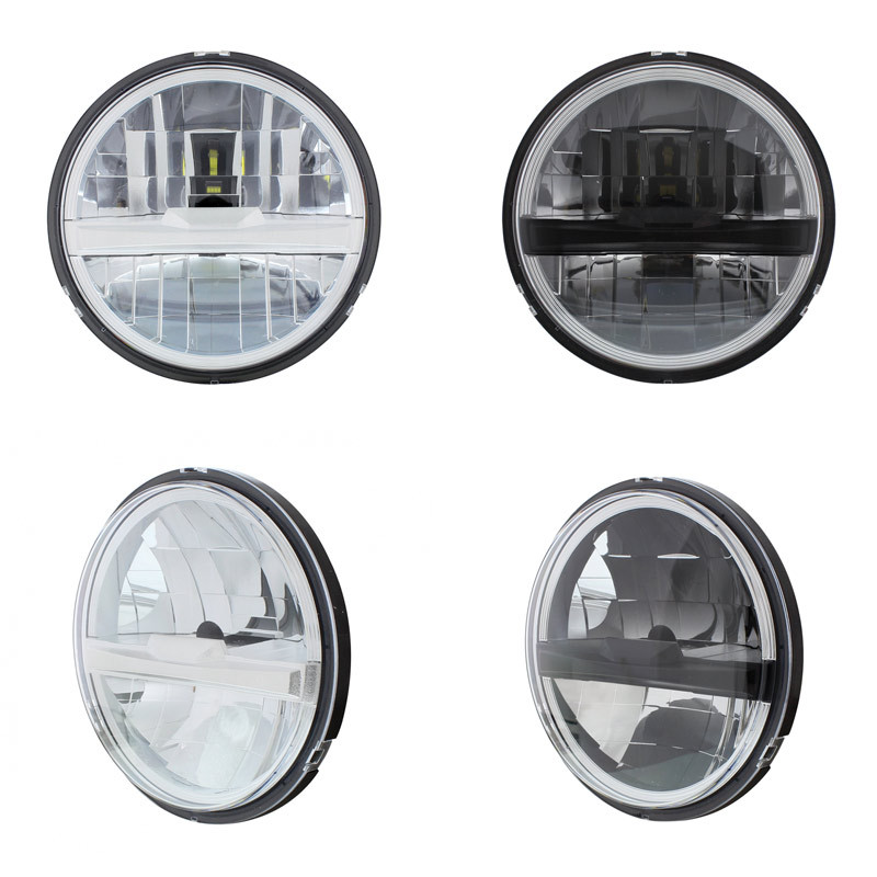 "5 3/4"" Round LED Headlight With 8 High Power LEDs"