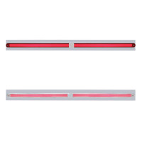 "Chrome Top Mud Flap Light Bracket with Two 12"" LED GLO Light Bar"