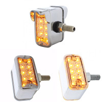 Dual-Function-Double-Face-Reflector-Light-Straight-Mount-Amber-Lens-Option